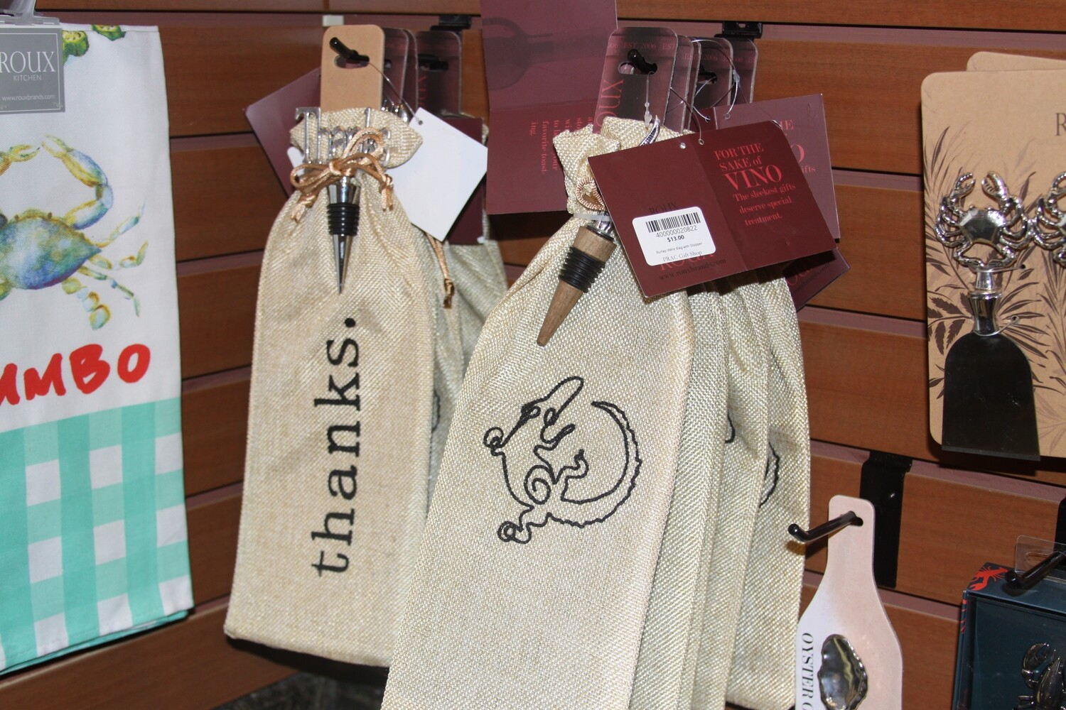 Burlap Wine Bag with Stopper