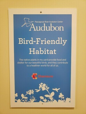 Bird-Friendly Habitat sign