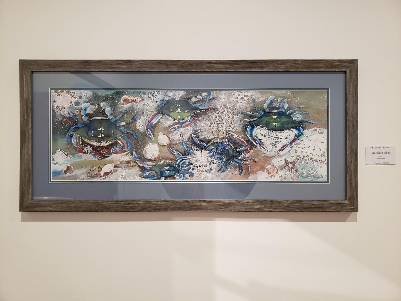 ART-Traveling Blues Framed