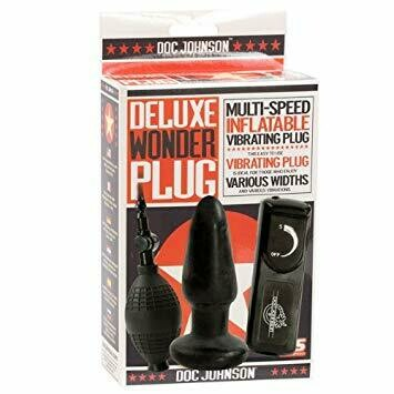 Deluxe Wonder Plug - Inflatable Vibrating Butt Plug