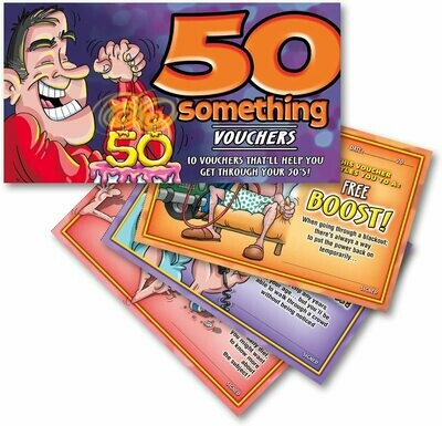 50 Something Vouchers For Him