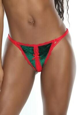 Holiday Crotchless G-String panty