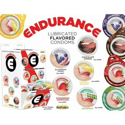 Endurance Flavored Lubed Condoms