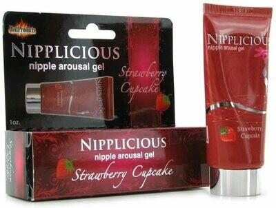 Nipplicious Arousal Gel-Strawberry 1oz