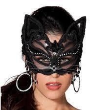 Black Lace Cat Mask