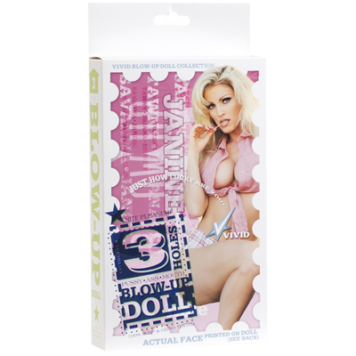 Vivid Superstar Janine 3-Hole Doll with Realistic Face