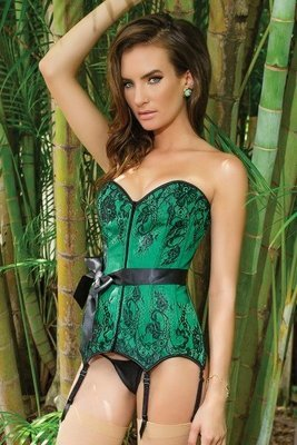 Metal Bond Corset Green/Black