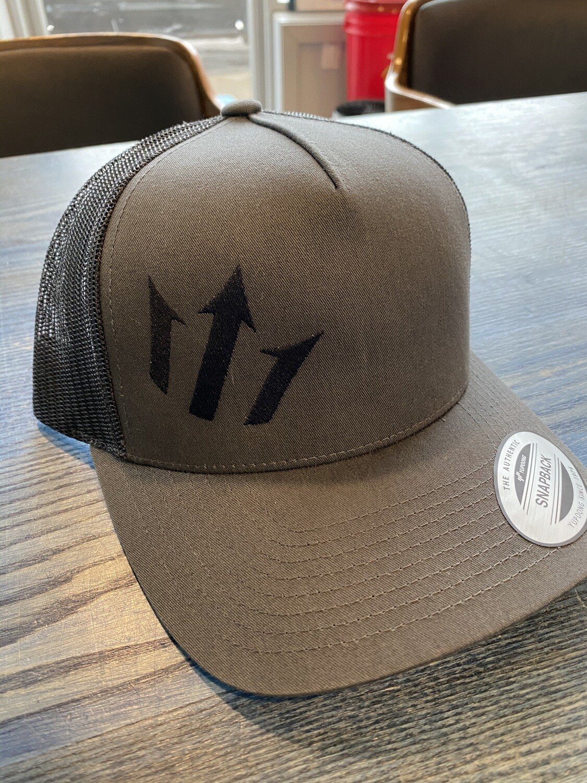 Snappy Back Hat DARK GREY with ventilation