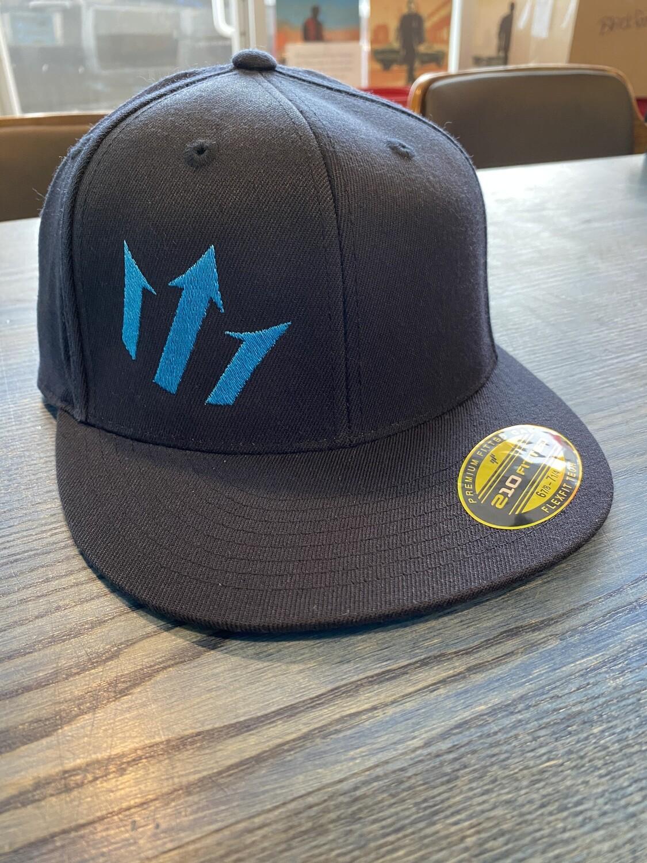 Abyss Blue Flat Brim Hat