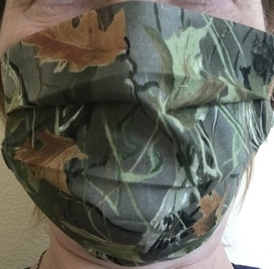 Face Mask Cotton Two Layered Washable Reusable Camouflage USA seller