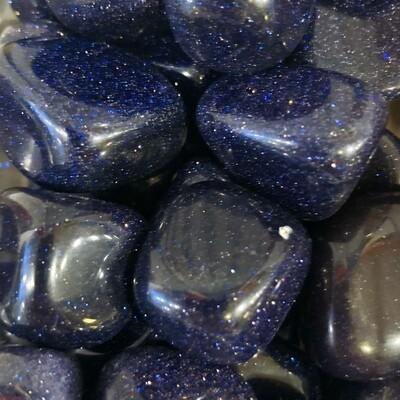 Blue Goldstone Tumbled