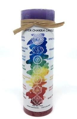 Seven Layer Chakra Candle 2x6
