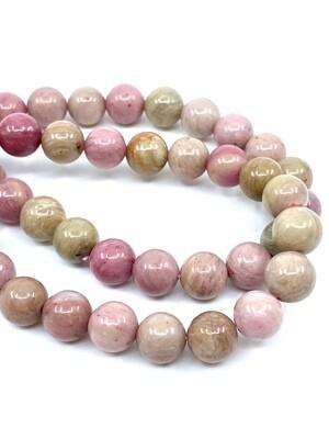 8mm Pink Rhodonite Bracelet