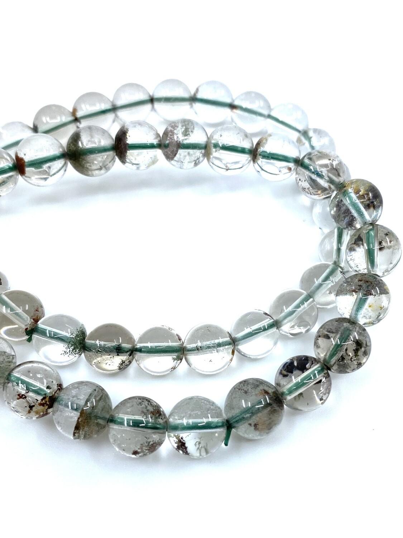 8mm Chlorite Phantom Quartz Bracelet