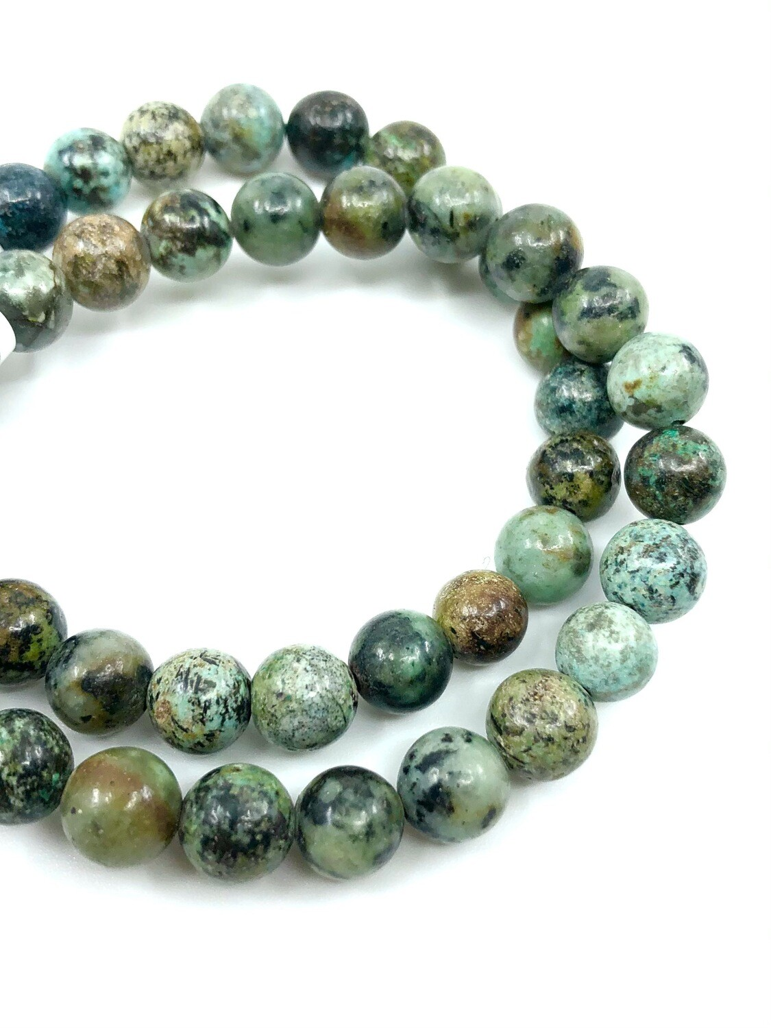 8mm African Turquoise Bracelet