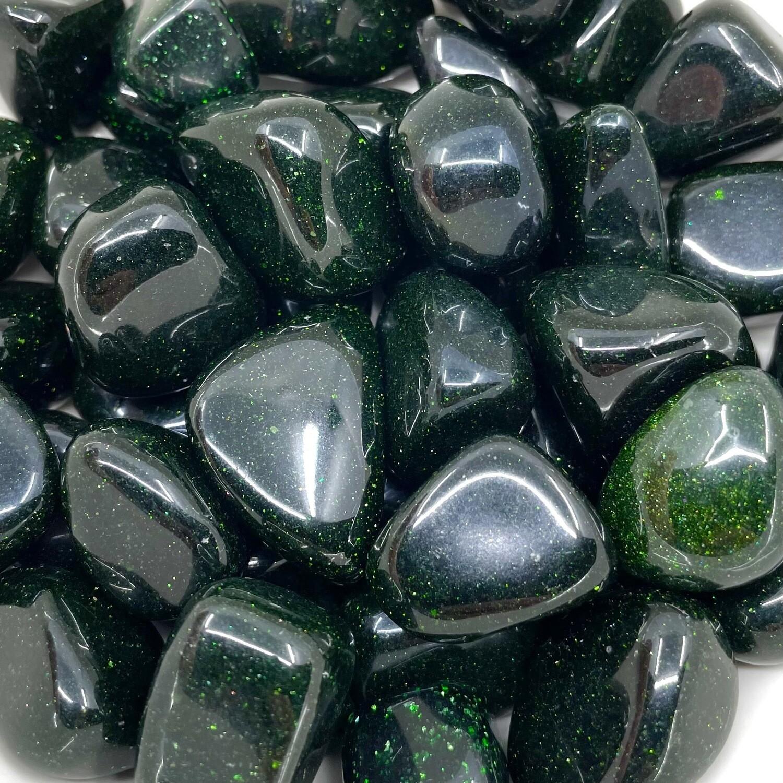 Green Goldstone Tumbled