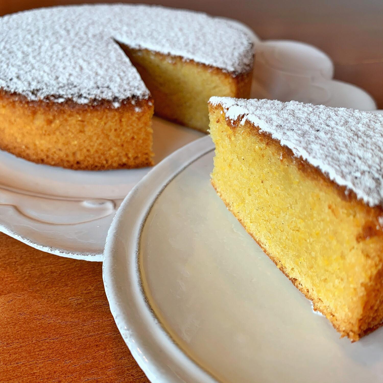 "polenta almond cake, 7"""
