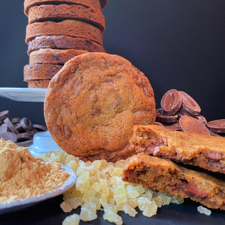 milk chocolate ginger cookie