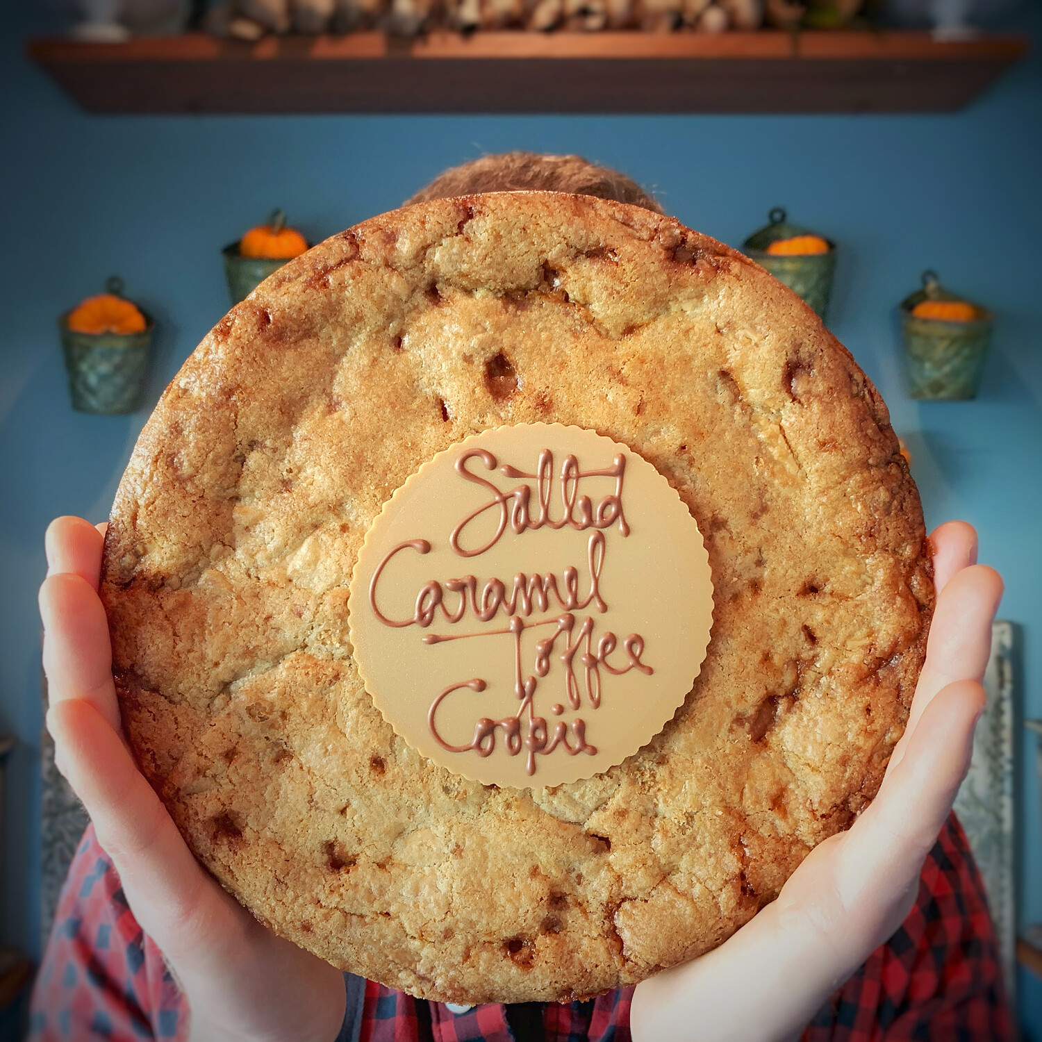 party cookie: salted caramel toffee