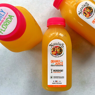 natalie's orange juice, 12oz bottle