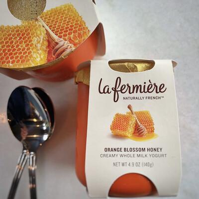 la fermière yogurt: orange blossom honey