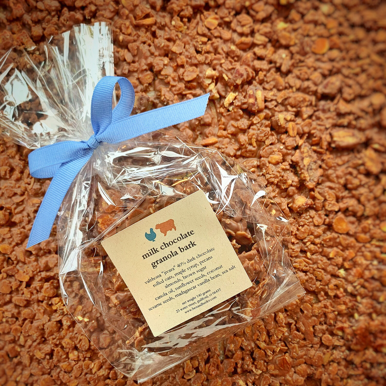 chocolate granola bark: MILK