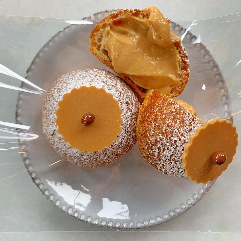 cream puff: SALTED BUTTER CARAMEL