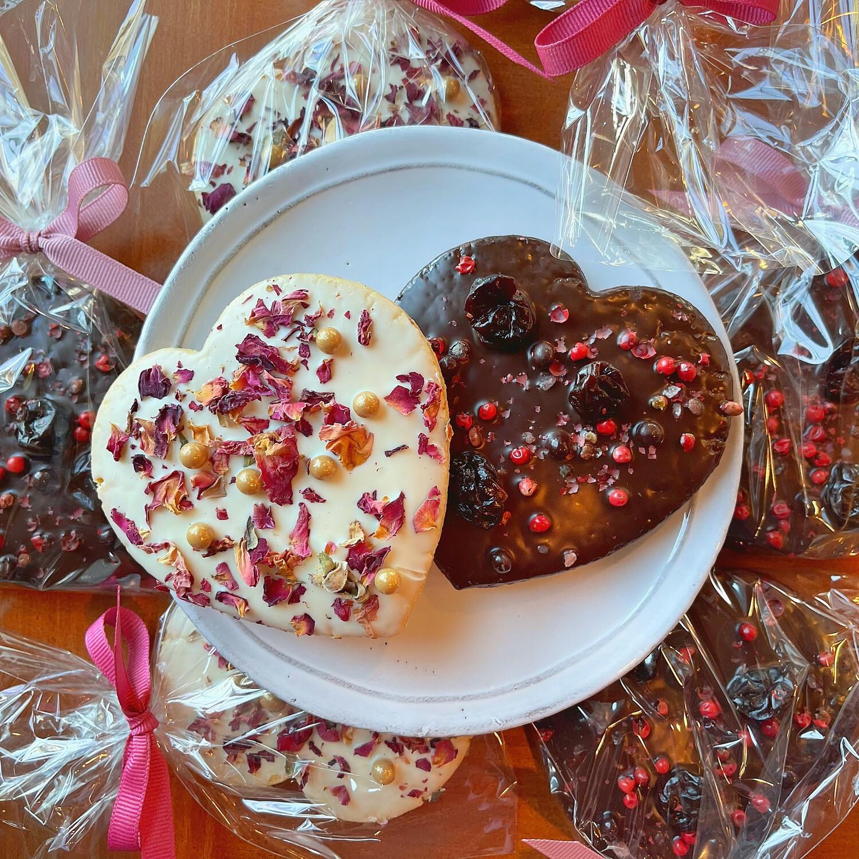 chocolate intrigue shortbread heart