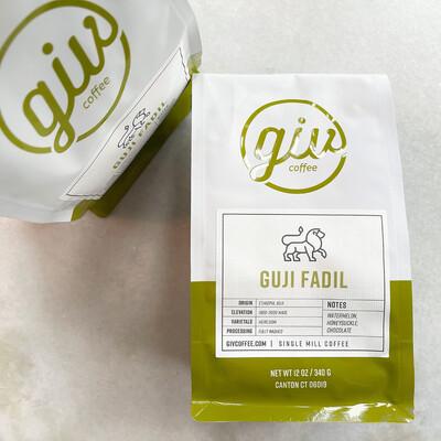 "giv coffee ""guji fadil"" 12oz whole bean bag"