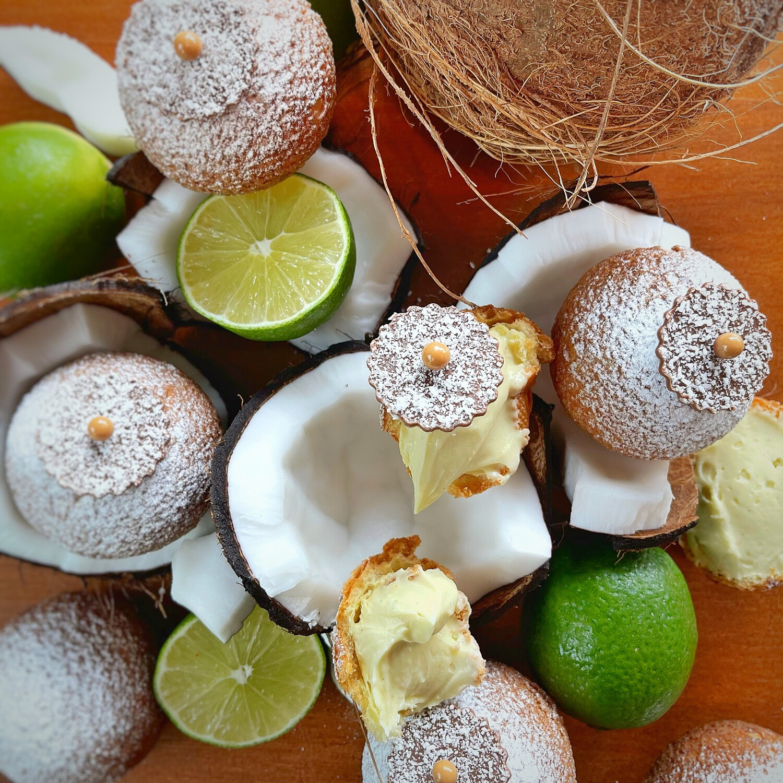 cream puff: COCONUT LIME