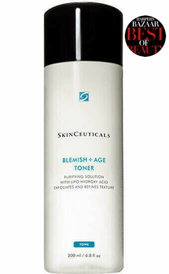 BLEMISH + AGE TONER Das Peeling-Gesichtswasser entfernt überschüssige Rückstände und oberflächliche Zellen, um die Poren zu klären