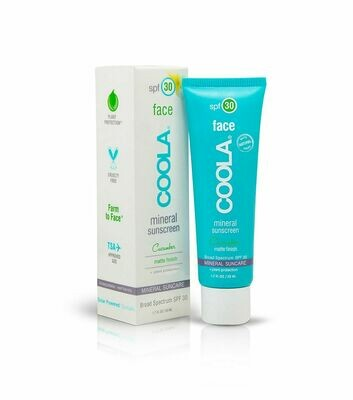 COOLA MINERAL FACE SPF30 MATTE FINISH CUCUMBER, 50ml
