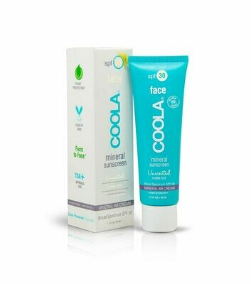 COOLA MINERAL FACE SPF30 MATTE TINT UNSCENTED, 50ml