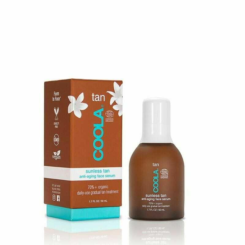 COOLA ORGANIC SUNLESS TAN ANTI-AGE FACE SERUM, 50ml