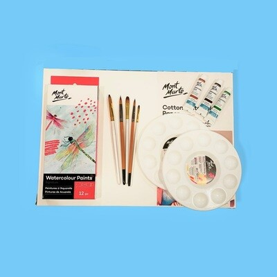 Watercolour Sip & Paint Set and Session for Two
