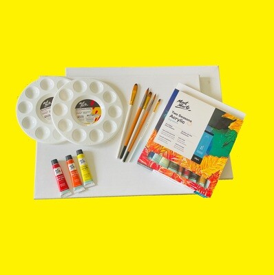 Acrylic Sip & Paint Set and Session for Two