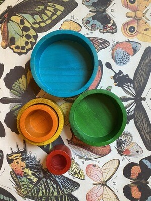 Rainbow Stacking + Nesting Bowls