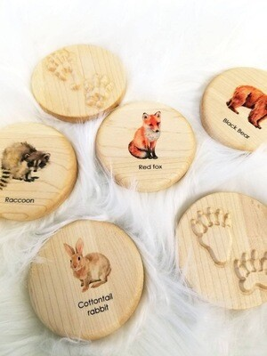 Animal Tracks Play dough Stampers