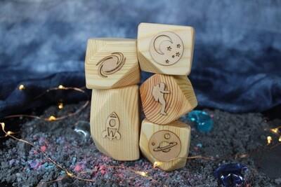 Space Play Dough Blocks