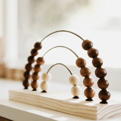 Wooden Rainbow Abacus Stained