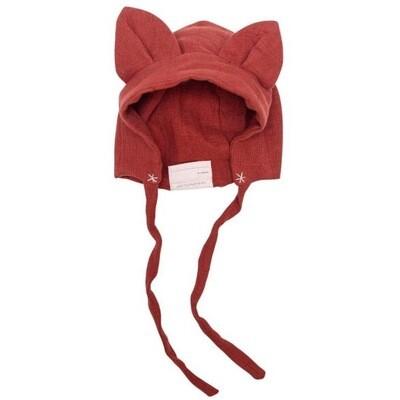 Ellie Fun Day Organic Muslin Cotton Fox Bonnet 6-12M