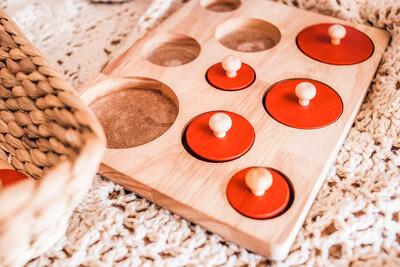 Montessori Size Knob Puzzle