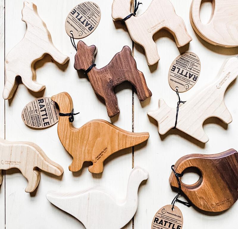 Handmade Solid Wood Teether