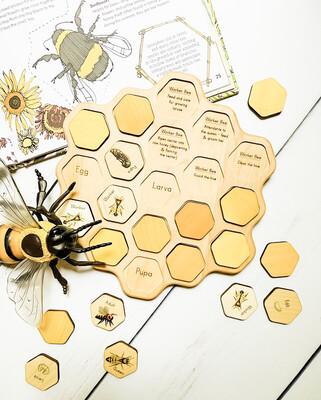Montessori Honeybee Honeycomb Puzzle
