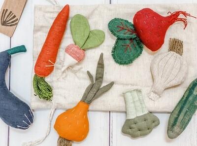 Handmade Cotton + Linen Veggie Set