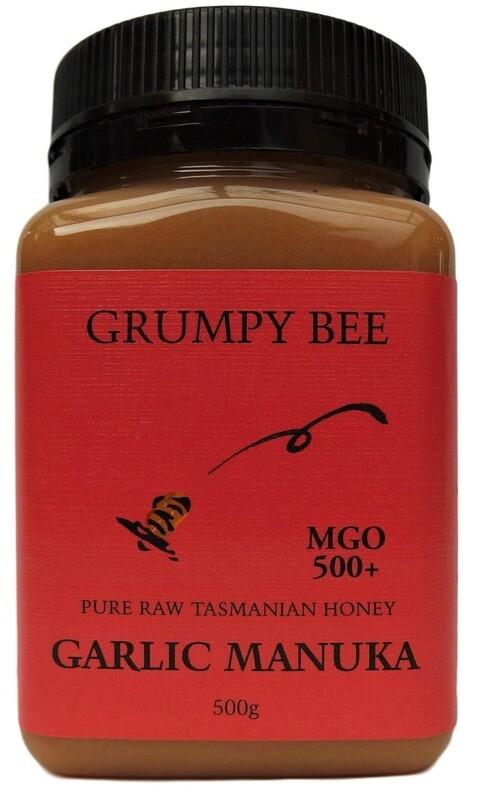 Grumpy Bee Garlic Manuka Honey MGO 500+ 500g