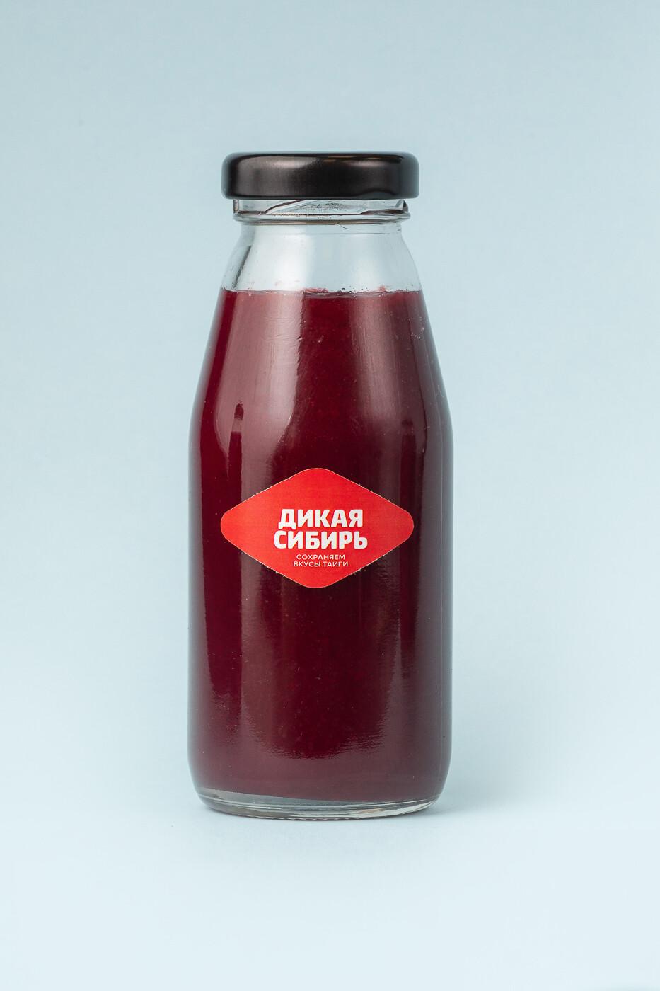 Пюре из чёрной смородины  «Дикая Сибирь» ст.бутылка 200 г