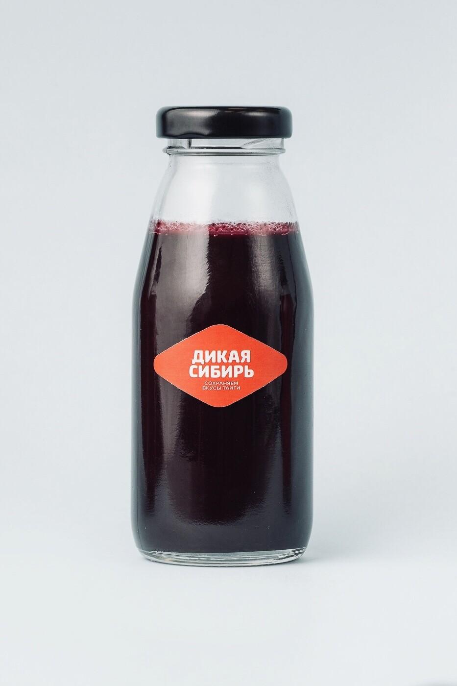 Пюре черничное  «Дикая Сибирь» ст.бутылка 200 г