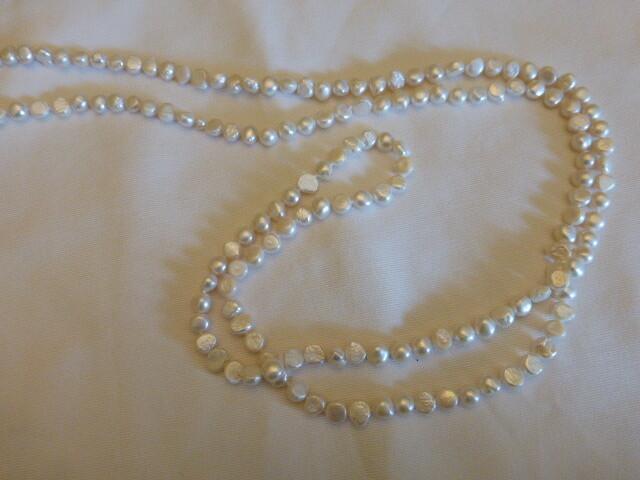 Sautoir en perles d'eau douce