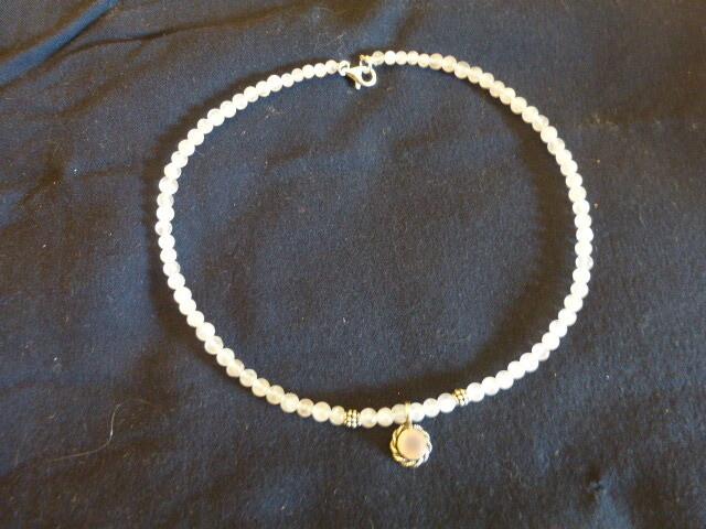 Collier tour de cou en quartz rose 43 cm